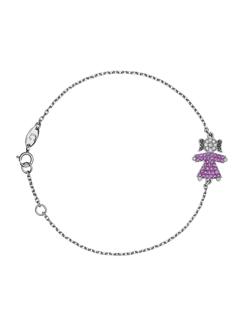 bracelet with the girl pendant with combined stones