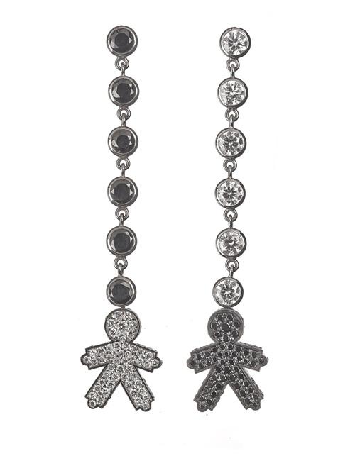 Kids with boys pendants earrings