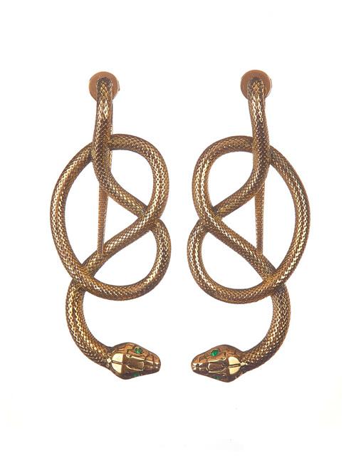 """""""Snakes"""" earrings"""