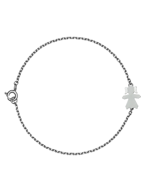 bracelet with the girl pendant without stones
