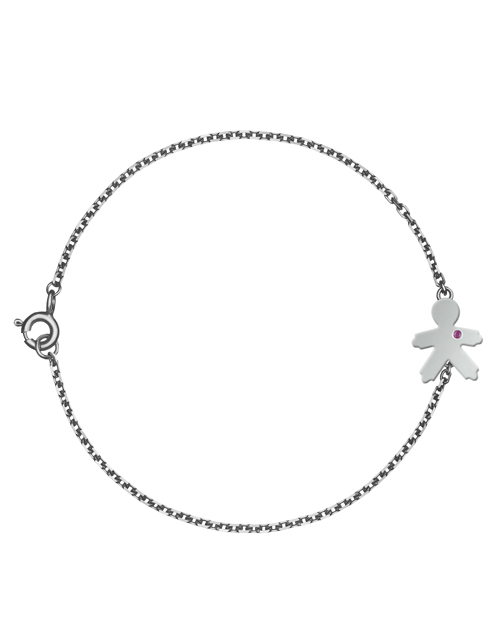 bracelet with the boy pendant without stones