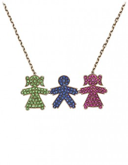 """Necklace """"Kids"""" with three pendants"""