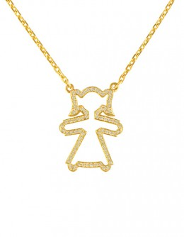"""Necklace with the girl pendant """"Circuit"""""""