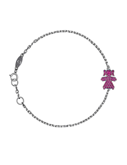 bracelet with the girl pendant
