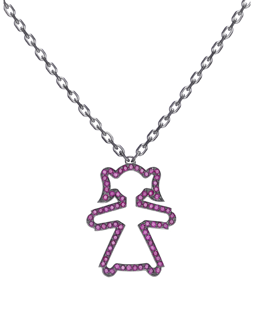 "NECKLACE ""CONTOUR"" WITH THE GIRL PENDANT"