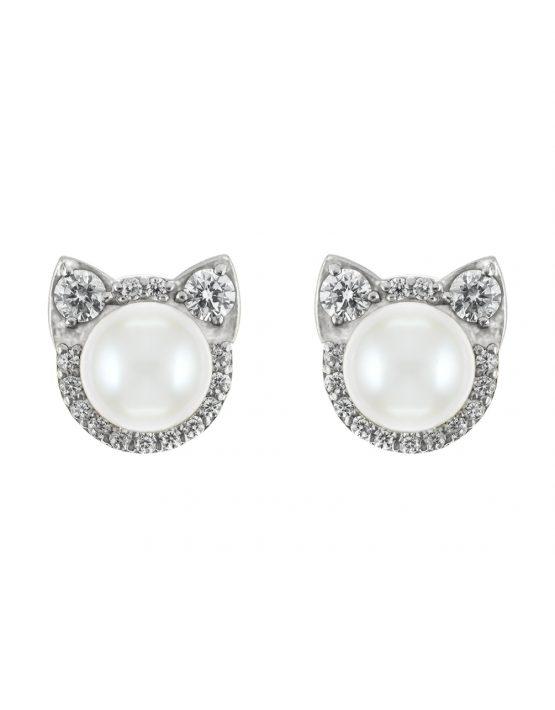 Серьги Кошечки с бриллиантами