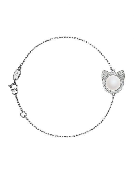 Браслет Кошечки с бриллиантами
