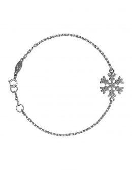 Браслет «Снежинка» с белыми бриллиантами