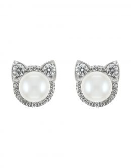 Earrings Cats with diamonds