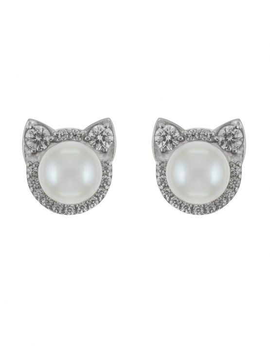 "EARRINGS ""CATS"" WITH LARGE DIAMONDS"