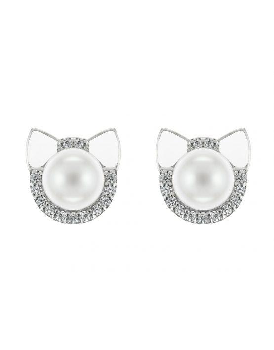 Earrings Cats with enamel