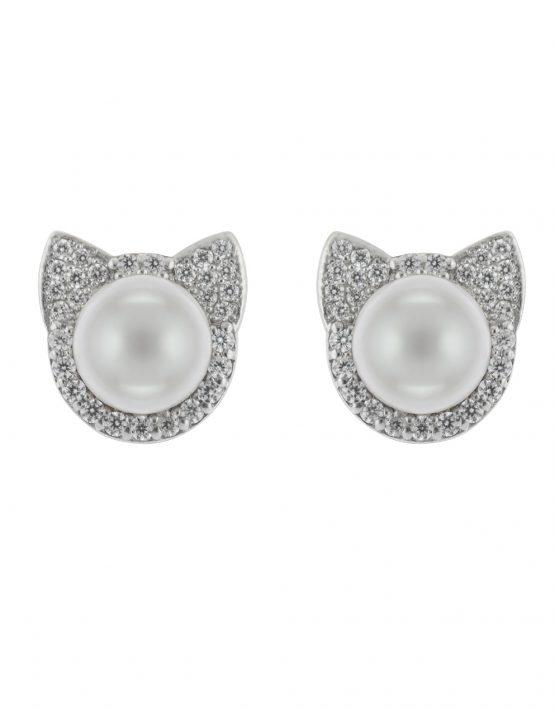 "EARRINGS ""CATS"" WITH DIAMONDS"