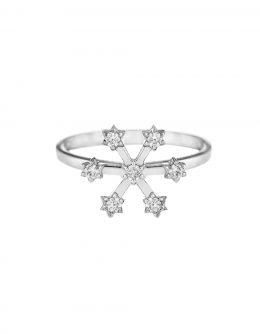 "RING ""SNOWFLAKE"" FOR THE LITTLE FINGER"