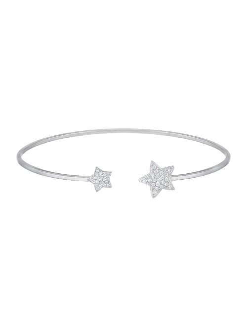 "HARD BRACELET ""STARS"" WITH WHITE DIAMONDS"