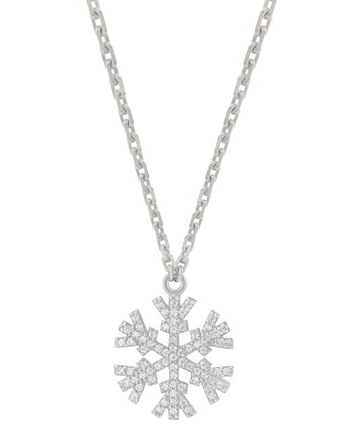 SNOWFLAKES NECKLACE WITH WHITE DIAMONDS