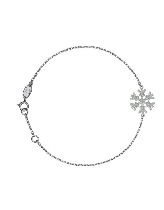 "BRACELET ""SNOWFLAKES"" WITH WHITE DIAMONDS"