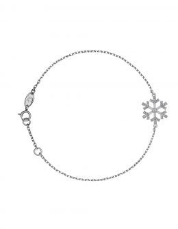 "BRACELET ""SNOWFLAKES"" WITH A LARGE WHITE DIAMOND IN THE CENTRE"