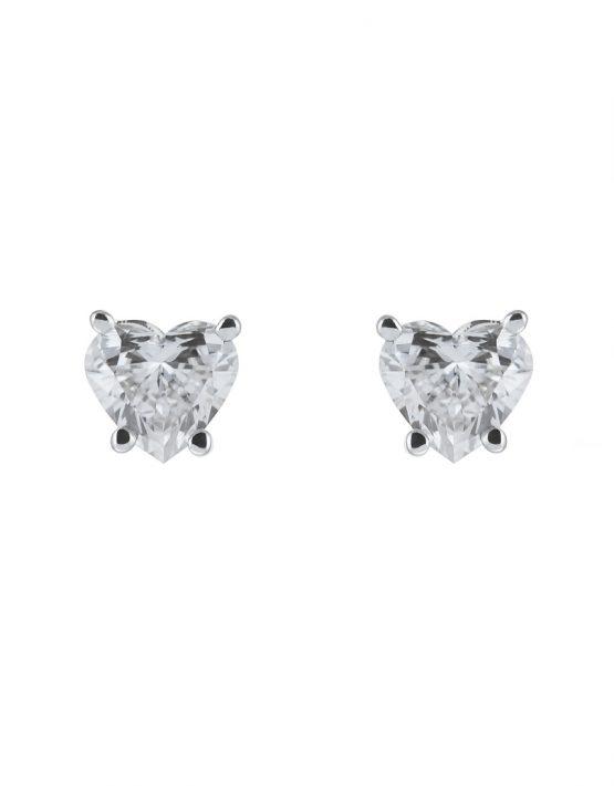 Серьги с белыми бриллиантами