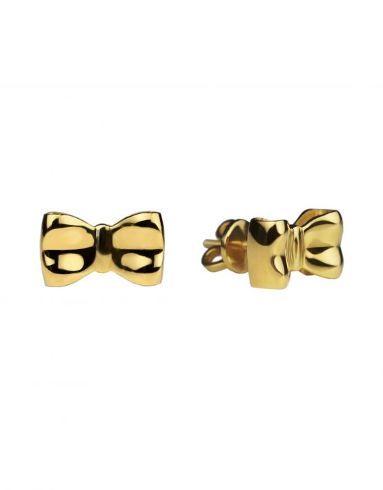 Earrings Bows in yellow gold