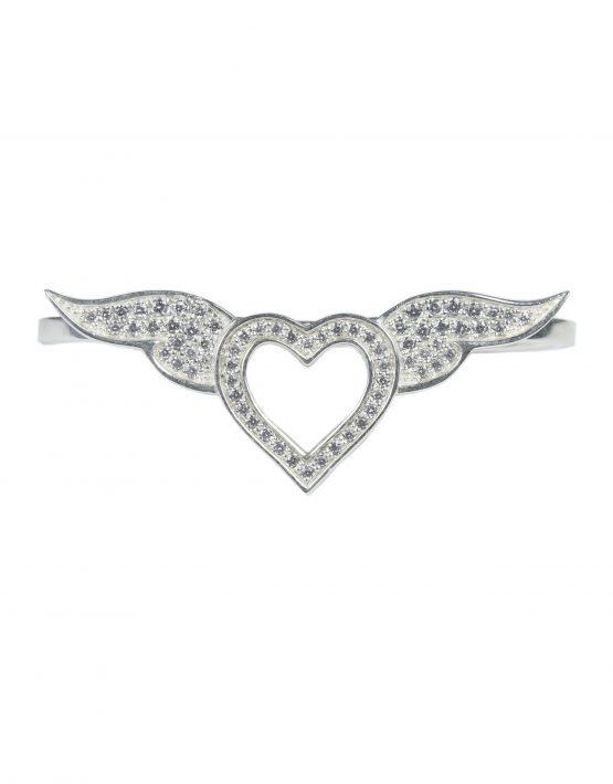 """Кольцо """"Сердце"""" с бриллиантами"""