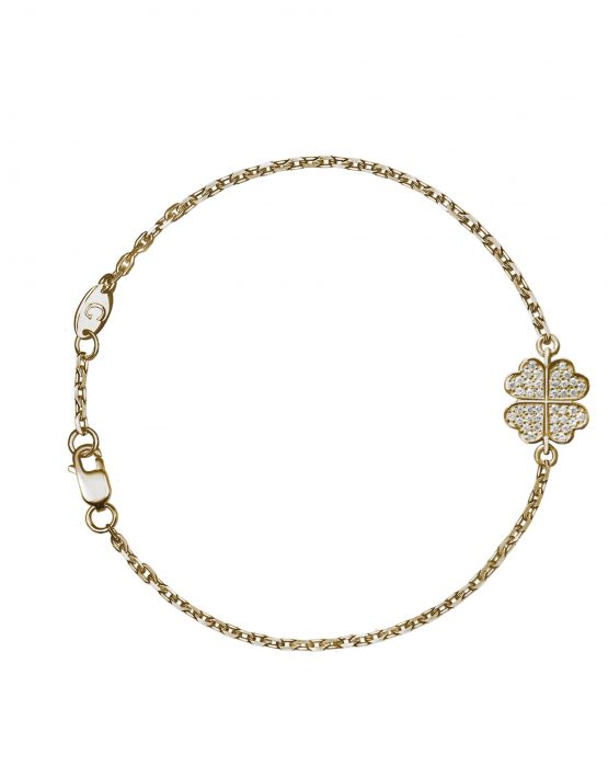 Clover bracelet with diamonds